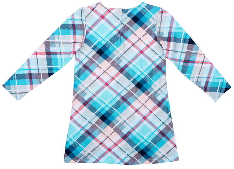 Платье для девочки PlayToday, цвет: голубой, розовый, серый. 372119. Размер 110372119Платье PlayToday отрезное по талии. Выполнено из натуральной принтованной ткани. Модель с округлым вырезом горловины и длинным рукавом.