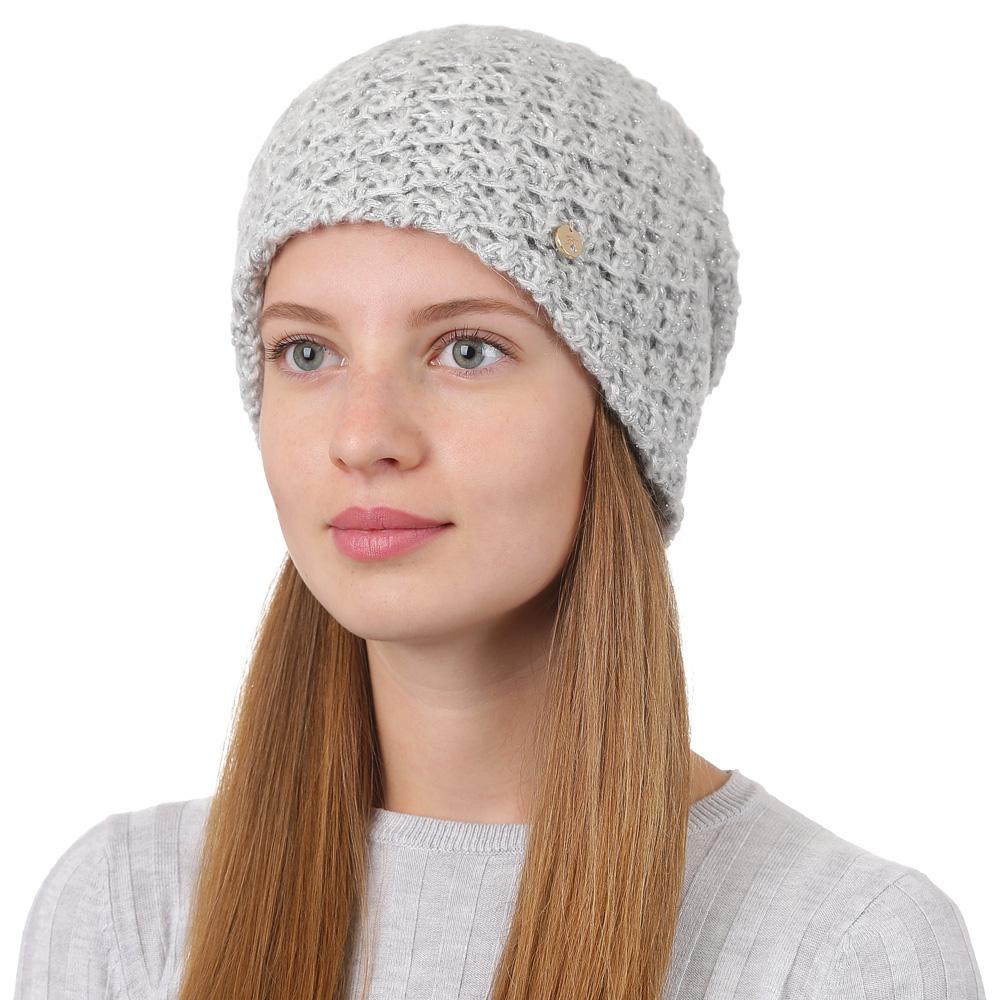 Шапка женская Fabretti, цвет: светло-серый. F2017-23-22. Размер универсальныйF2017-23-22Стильная женская шапка Fabretti отлично дополнит ваш образ и защитит от холода. Смесовая пряжа с шерстью в составе максимально сохраняет тепло и обеспечивает удобную посадку. Классическая вязаная шапка оформлена металлическим декоративным элементом. Такая шапка станет отличным дополнением к вашему осеннему или зимнему гардеробу, в ней вам будет уютно и тепло!