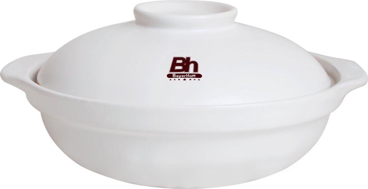 Кастрюля для выпечки Bayerhoff, с крышкой, керамическая, 2 л. BH-105BH-105Кастрюля для выпечки Bayerhoff изготовлена из экологически чистого материала. Изделие равномерно сохраняет тепло долгое время. Гладкая поверхность кастрюли с покрытием из керамики довольно легко очищается от загрязнений. Причем само покрытие при этом не осыпается и не отстает от кастрюли. Кастрюля дополнена контрастной крышкой. Во избежание образования неприятных запахов хранить керамические емкости желательно в открытом виде, не закрывая крышкой.Кастрюля подходит для всех типов плит (кроме индукции), а также для использования в микроволновой печи и духовке.Можно мыть в посудомоечной машине. Температура воды должна быть установлена на минимуме.Подходит для хранения продуктов в холодильнике и морозильной камере.Материал устойчив к температурам от -20 до +400 °C.