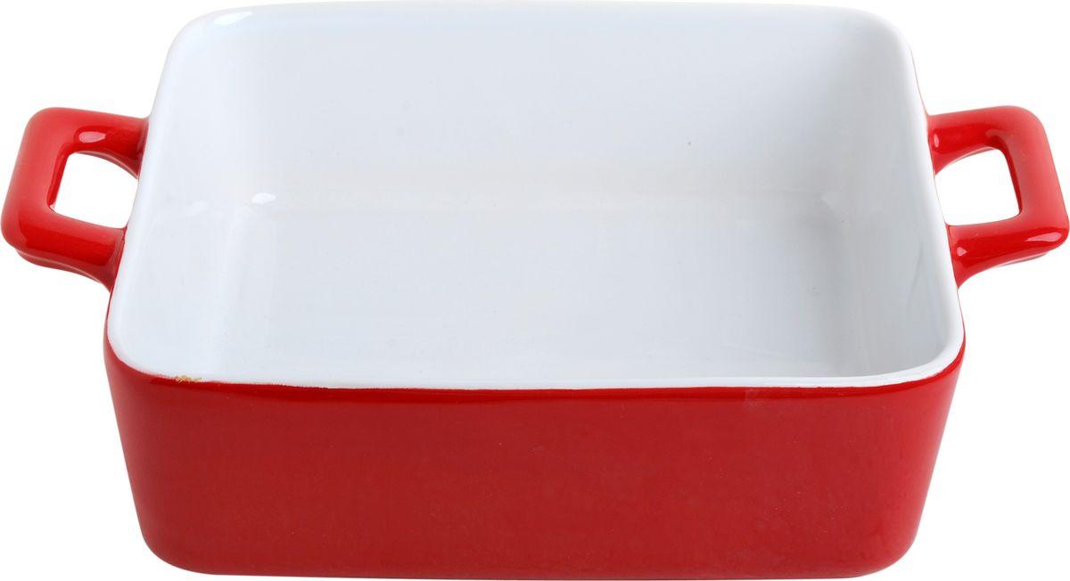 Противень керамический Frank Moller Lydia, цвет: красный, белый, 21 х 16 х 5,8 смFM-637Противень керамический Frank Moller выполнен из высококачественной жаропрочной керамики. Благодаря обжигу при высоких температурах изделие имеет прочную непористую структуру и идеально гладкую поверхность. Материал гигиеничен, не впитывает запахи, легко моется, нейтрален к пищевым кислотам и солям. Обеспечивает щадящий режим приготовления, благодаря способности медленно накапливать тепло и медленно его отдавать. Противень подходит для использования в духовке, гриле, микроволновых печах, для хранения в холодильнике и замораживания. Можно мыть в посудомоечной машине. Выдерживает нагрев до 220°С.Размер (с учетом ручек): 21 х 16 х 5,8 см. Размер (без учета ручек): 16 х 16 х 5,8 см.
