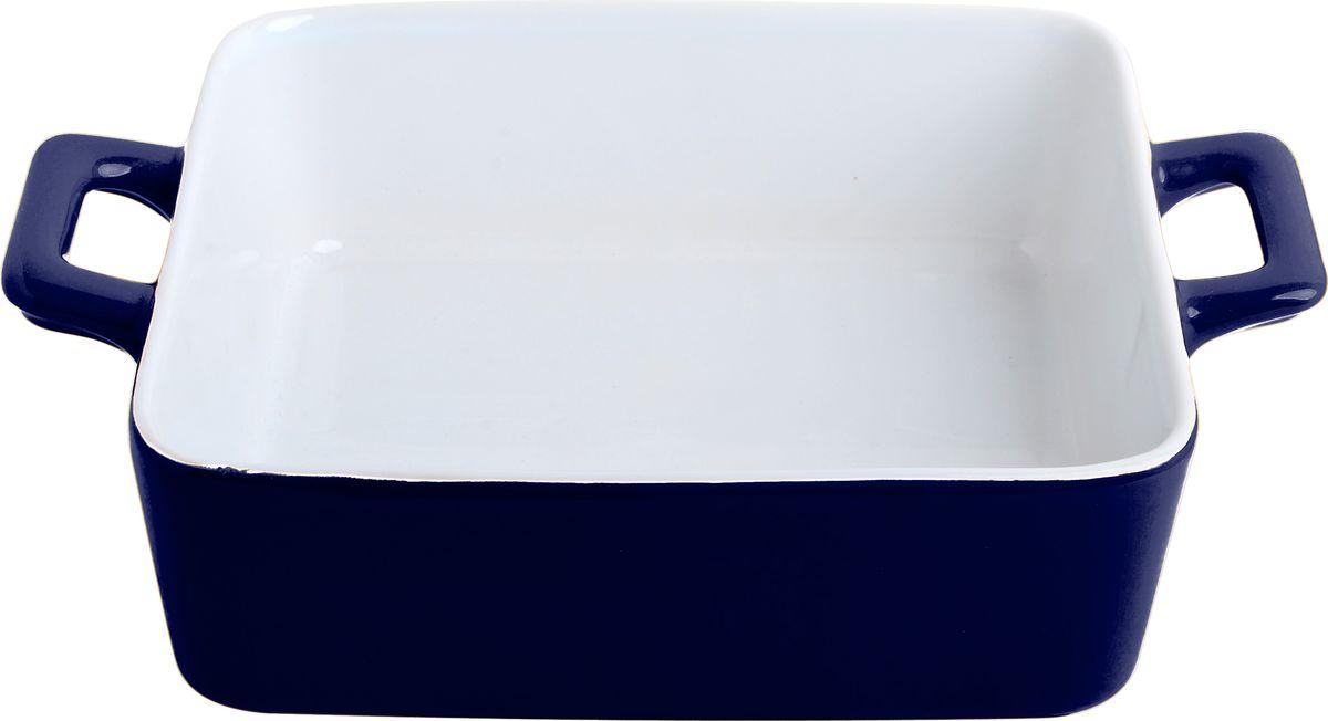 Противень керамический Frank Moller Lydia, цвет: синий, белый, 21 х 16 х 5,8 смFM-638Противень керамический Frank Moller выполнен из высококачественной жаропрочной керамики. Благодаря обжигу при высоких температурах изделие имеет прочную непористую структуру и идеально гладкую поверхность. Материал гигиеничен, не впитывает запахи, легко моется, нейтрален к пищевым кислотам и солям. Обеспечивает щадящий режим приготовления, благодаря способности медленно накапливать тепло и медленно его отдавать. Противень подходит для использования в духовке, гриле, микроволновых печах, для хранения в холодильнике и замораживания. Можно мыть в посудомоечной машине. Выдерживает нагрев до 220°С.Размер (с учетом ручек): 21 х 16 х 5,8 см. Размер (без учета ручек): 16 х 16 х 5,8 см.