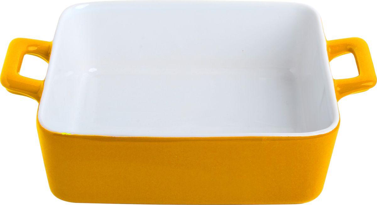 Противень керамический Frank Moller Lydia, цвет: желтый, белый, 21 х 16 х 5,8 смFM-639Противень керамический Frank Moller выполнен из высококачественной жаропрочной керамики. Благодаря обжигу при высоких температурах изделие имеет прочную непористую структуру и идеально гладкую поверхность. Материал гигиеничен, не впитывает запахи, легко моется, нейтрален к пищевым кислотам и солям. Обеспечивает щадящий режим приготовления, благодаря способности медленно накапливать тепло и медленно его отдавать. Противень подходит для использования в духовке, гриле, микроволновых печах, для хранения в холодильнике и замораживания. Можно мыть в посудомоечной машине. Выдерживает нагрев до 220°С.Размер (с учетом ручек): 21 х 16 х 5,8 см. Размер (без учета ручек): 16 х 16 х 5,8 см.