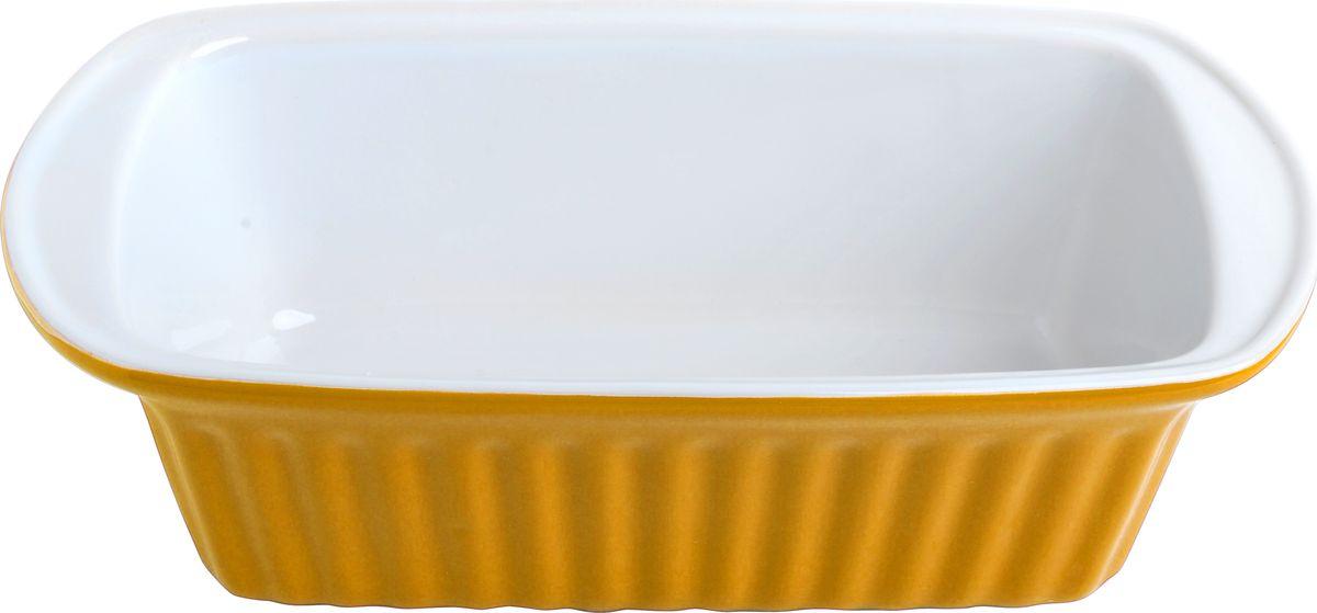 Противень керамический Frank Moller, цвет: желтый, белый, 28,6 х 15 х 8,5 смFM-648Противень керамический Frank Moller выполнен из высококачественной жаропрочной керамики. Благодаря обжигу при высоких температурах изделие имеет прочную непористую структуру и идеально гладкую поверхность. Материал гигиеничен, не впитывает запахи, легко моется, нейтрален к пищевым кислотам и солям. Обеспечивает щадящий режим приготовления, благодаря способности медленно накапливать тепло и медленно его отдавать. Противень подходит для использования в духовке, гриле, микроволновых печах, для хранения в холодильнике и замораживания. Можно мыть в посудомоечной машине. Выдерживает нагрев до 220°С.Размер (с учетом ручек): 28,6 х 15 х 8,5 см.