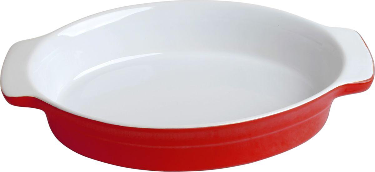 Противень керамический Frank Moller, цвет: красный, белый, 29 х 18,5 х 5,5 см