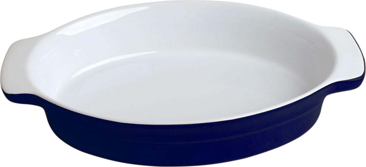Противень керамический Frank Moller, цвет: синий, белый, 29 х 18,5 х 5,5 смFM-653Противень керамический Frank Moller выполнен из высококачественной жаропрочной керамики. Благодаря обжигу при высоких температурах изделие имеет прочную непористую структуру и идеально гладкую поверхность. Материал гигиеничен, не впитывает запахи, легко моется, нейтрален к пищевым кислотам и солям. Обеспечивает щадящий режим приготовления, благодаря способности медленно накапливать тепло и медленно его отдавать. Противень подходит для использования в духовке, гриле, микроволновых печах, для хранения в холодильнике и замораживания. Можно мыть в посудомоечной машине. Выдерживает нагрев до 220°С.Размер (с учетом ручек): 29 х 18,5 х 5,5 см.