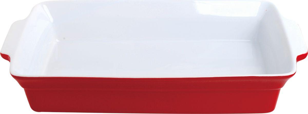 Противень керамический Frank Moller, прямоугольный, цвет: красный, 37,5 х 22 х 6,5 смFM-655