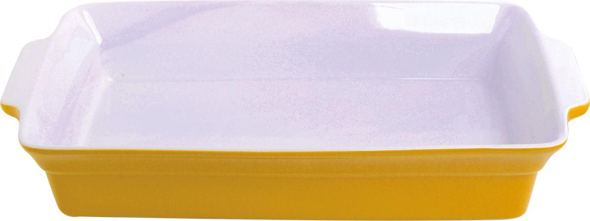 Противень керамический Frank Moller, прямоугольный, цвет: желтый, 37,5 х 22 х 6,5 смFM-657