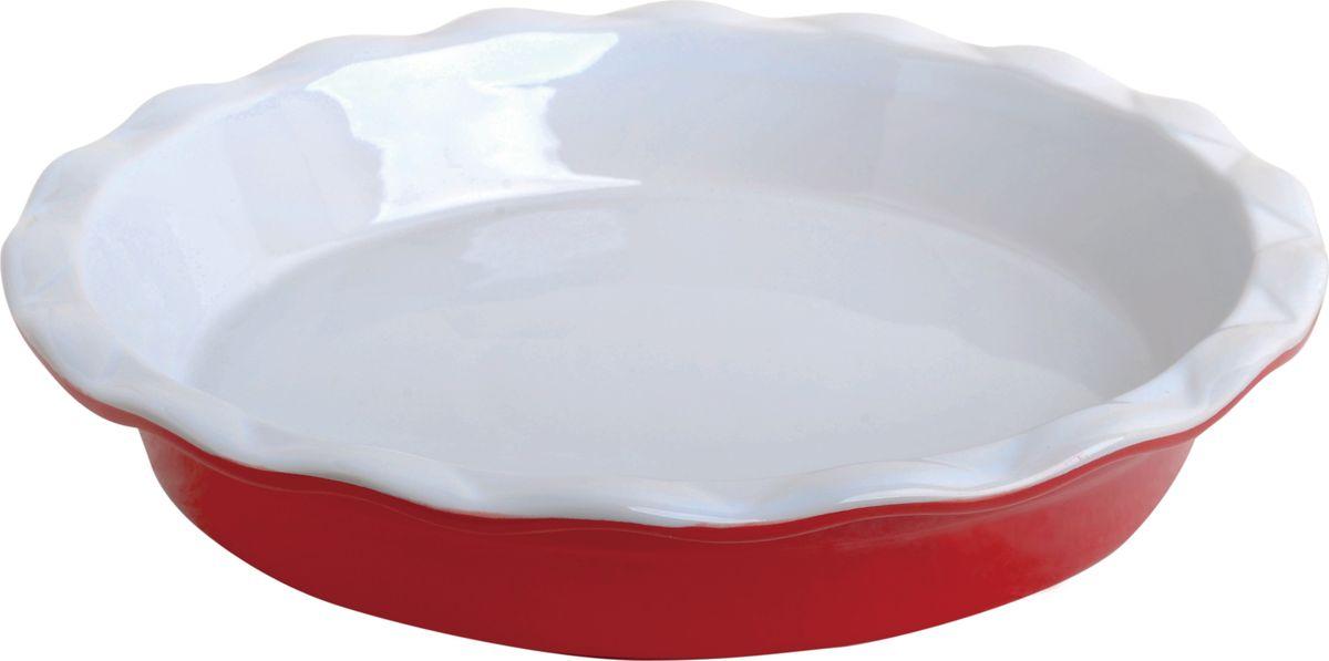 Противень керамический Frank Moller, круглый, цвет: красный, 28,5 х 28,5 х 5,3 смFM-658