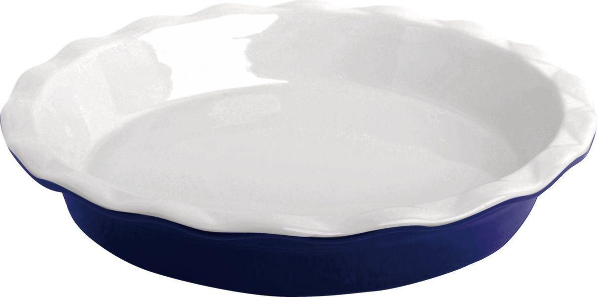 Противень керамический Frank Moller, круглый, цвет: синий, 28,5 х 28,5 х 5,3 смFM-659Противень керамический Frank Moller выполнен из высококачественной жаропрочной керамики. Благодаря обжигу при высоких температурах изделие имеет прочную непористую структуру и идеально гладкую поверхность. Материал гигиеничен, не впитывает запахи, легко моется, нейтрален к пищевым кислотам и солям. Обеспечивает щадящий режим приготовления, благодаря способности медленно накапливать тепло и медленно его отдавать.Противень подходит для использования в духовке, гриле, микроволновых печах, для хранения в холодильнике и замораживания.Можно мыть в посудомоечной машине. Выдерживает нагрев до 220°С.Размер: 28,5 x 5,3 см.