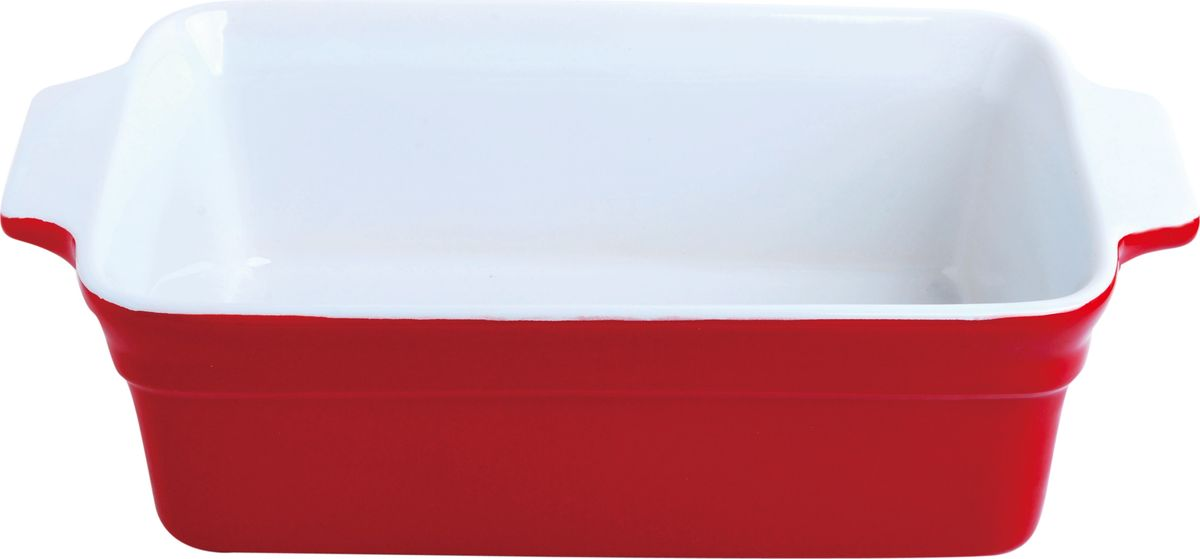 Противень керамический Frank Moller, прямоугольный, с ручками, цвет: красный, 29 х 16,3 х 8,8 смFM-661Противень Frank Moller прямоугольной формы выполнен из высококачественной жаропрочной керамики с глазурованным покрытием. Материал гигиеничен, не впитывает запахи, легко моется, нейтрален к пищевым кислотам и солям. Обеспечивает щадящий режим приготовления, благодаря способности медленно накапливать тепло и медленно его отдавать. Противень подходит для использования в духовке, гриле, микроволновых печах, для хранения в холодильнике и замораживания. Можно мыть в посудомоечной машине. Нельзя использовать на открытом огне.