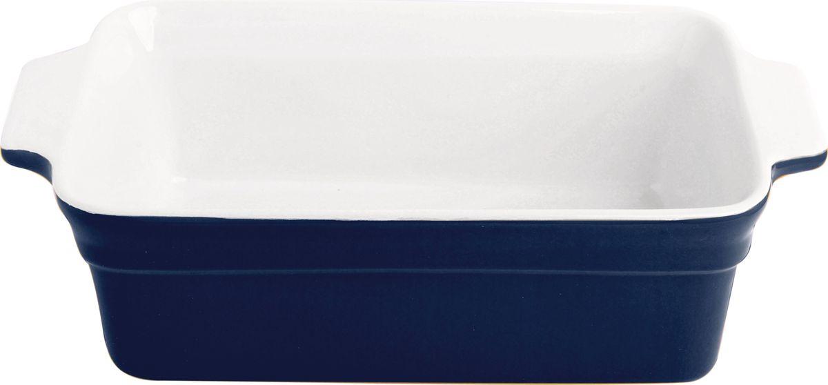Противень керамический Frank Moller, цвет: темно-синий, белый, 29 х 16,3 х 8,8 смFM-662Противень керамический Frank Moller выполнен из высококачественной жаропрочной керамики. Благодаря обжигу при высоких температурах изделие имеет прочную непористую структуру и идеально гладкую поверхность. Материал гигиеничен, не впитывает запахи, легко моется, нейтрален к пищевым кислотам и солям. Обеспечивает щадящий режим приготовления, благодаря способности медленно накапливать тепло и медленно его отдавать. Противень подходит для использования в духовке, гриле, микроволновых печах, для хранения в холодильнике и замораживания. Можно мыть в посудомоечной машине. Выдерживает нагрев до 220°С.Размер (с учетом ручек): 29 х 16,3 х 8,8 см.