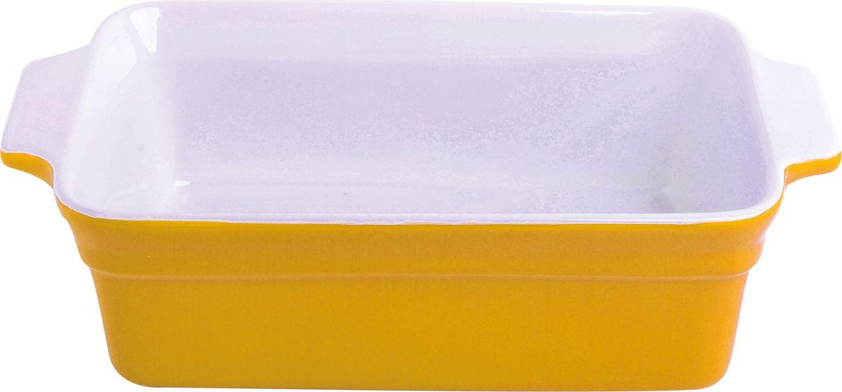 Противень керамический Frank Moller, цвет: желтый, белый, 29 х 16,3 х 8,8 смFM-663Противень керамический Frank Moller выполнен из высококачественной жаропрочной керамики. Благодаря обжигу при высоких температурах изделие имеет прочную непористую структуру и идеально гладкую поверхность. Материал гигиеничен, не впитывает запахи, легко моется, нейтрален к пищевым кислотам и солям. Обеспечивает щадящий режим приготовления, благодаря способности медленно накапливать тепло и медленно его отдавать. Противень подходит для использования в духовке, гриле, микроволновых печах, для хранения в холодильнике и замораживания. Можно мыть в посудомоечной машине. Выдерживает нагрев до 220°С.Размер (с учетом ручек): 29 х 16,3 х 8,8 см.
