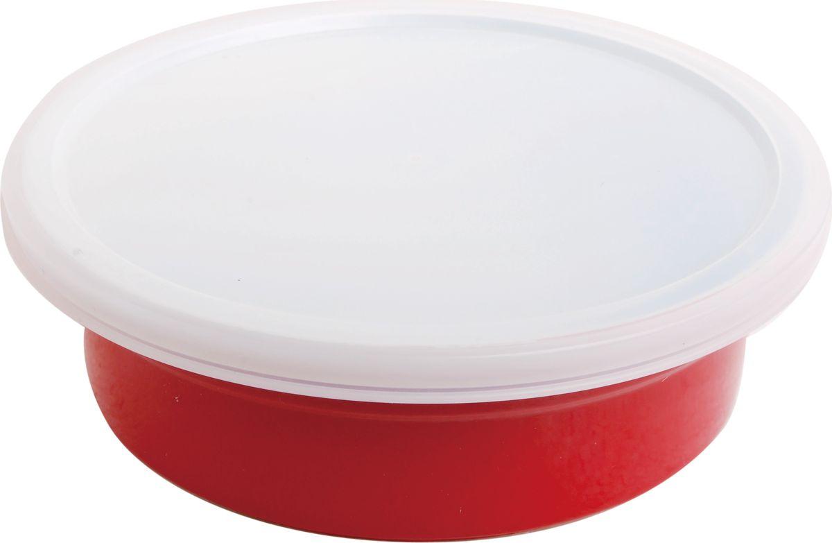 Противень керамический Frank Moller, круглый, с крышкой, цвет: красный, 20,3 х 20,3 х 6 смFM-664