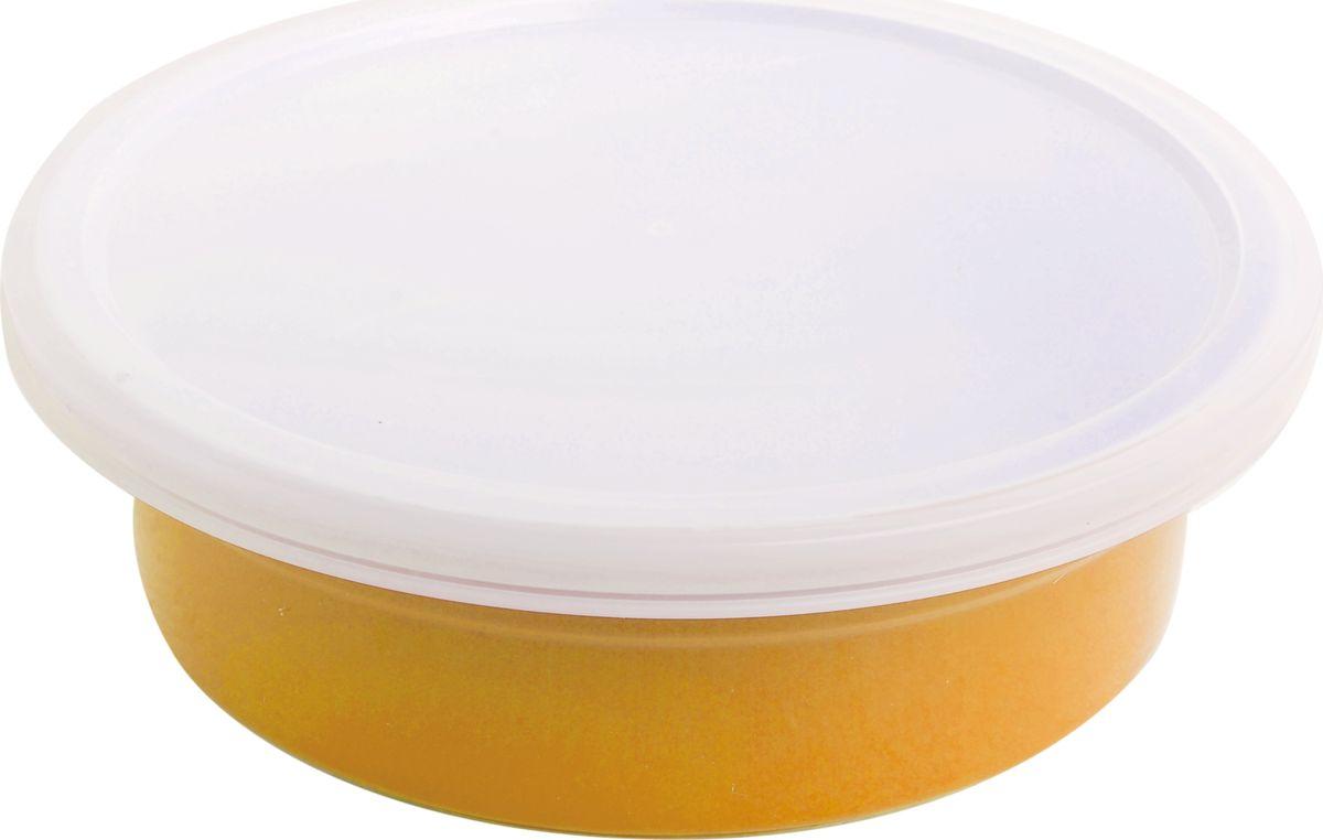 Противень керамический Frank Moller, круглый, с крышкой, цвет: желтый, 20,3 х 20,3 х 6 смFM-666