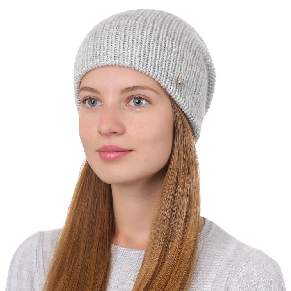 Шапка женская Fabretti, цвет: светло-серый. F2017-25-22. Размер универсальныйF2017-25-22Стильная женская шапка Fabretti отлично дополнит ваш образ и защитит от холода. Смесовая пряжа с шерстью в составе максимально сохраняет тепло и обеспечивает удобную посадку. Классическая вязаная шапка оформлена металлическим декоративным элементом. Такая шапка станет отличным дополнением к вашему осеннему или зимнему гардеробу, в ней вам будет уютно и тепло!