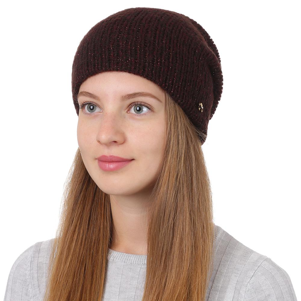 Шапка женская Fabretti, цвет: бордовый. F2017-25-26. Размер универсальныйF2017-25-26Стильная женская шапка Fabretti отлично дополнит ваш образ и защитит от холода. Смесовая пряжа с шерстью в составе максимально сохраняет тепло и обеспечивает удобную посадку. Классическая вязаная шапка оформлена металлическим декоративным элементом. Такая шапка станет отличным дополнением к вашему осеннему или зимнему гардеробу, в ней вам будет уютно и тепло!
