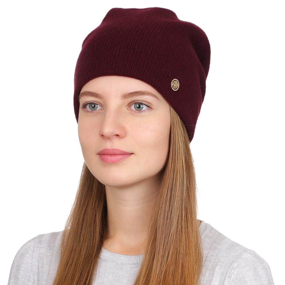 Шапка женская Fabretti, цвет: темно-бордовый. F2017-27-27. Размер универсальныйF2017-27-27Стильная женская шапка Fabretti отлично дополнит ваш образ и защитит от холода. Смесовая пряжа с шерстью в составе максимально сохраняет тепло и обеспечивает удобную посадку. Классическая вязаная шапка оформлена металлическим декоративным элементом. Такая шапка станет отличным дополнением к вашему осеннему или зимнему гардеробу, в ней вам будет уютно и тепло!