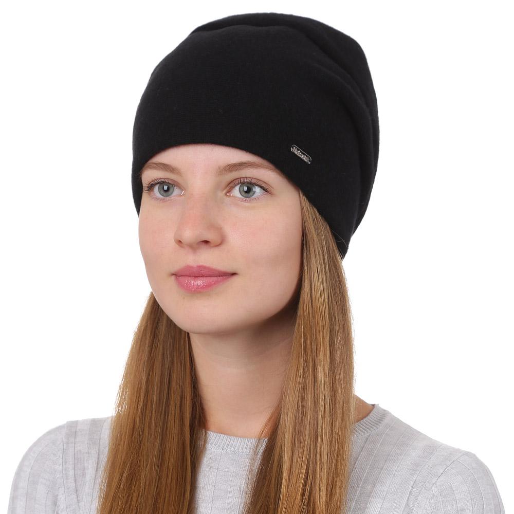 Шапка женская Fabretti, цвет: черный. F2017-28-18. Размер универсальныйF2017-28-18Стильная женская шапка Fabretti отлично дополнит ваш образ и защитит от холода. Смесовая пряжа с шерстью в составе максимально сохраняет тепло и обеспечивает удобную посадку. Шапка оформлена металлической нашивкой с названием бренда. Такая шапка станет отличным дополнением к вашему осеннему или зимнему гардеробу, в ней вам будет уютно и тепло!
