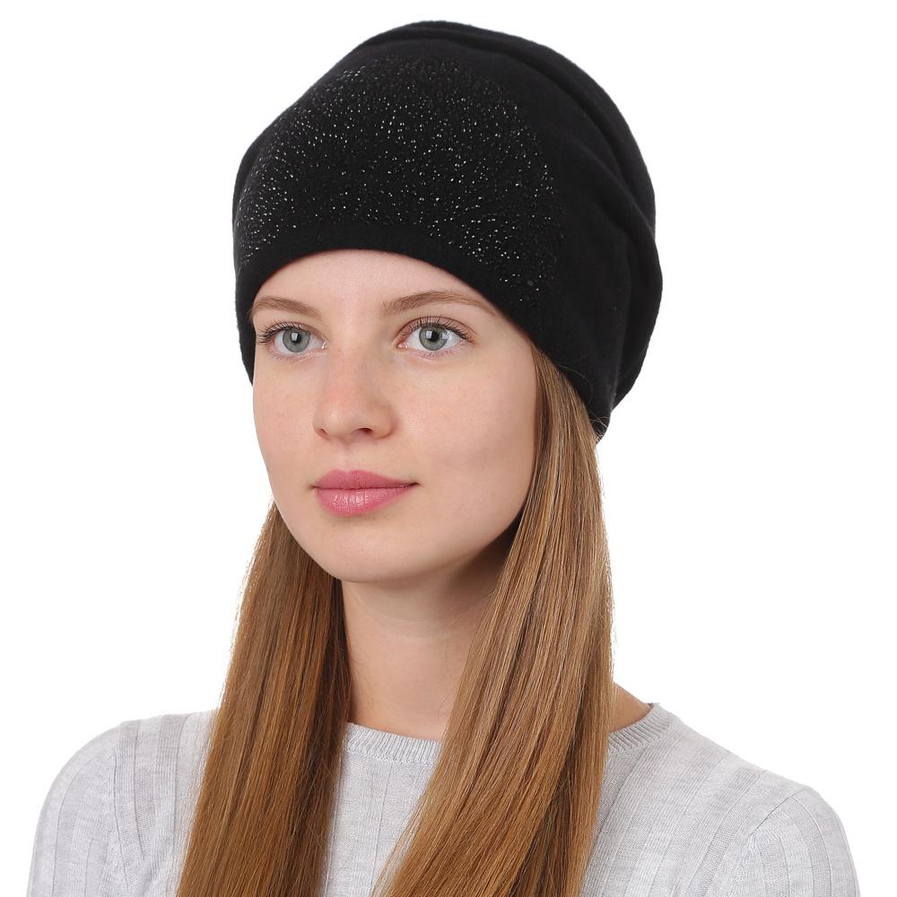 Шапка женская Fabretti, цвет: черный. F2017-29-18. Размер универсальныйF2017-29-18Стильная женская шапка Fabretti отлично дополнит ваш образ и защитит от холода. Смесовая пряжа с шерстью в составе максимально сохраняет тепло и обеспечивает удобную посадку. Классическая вязаная шапка оформлена декоративной аппликацией. Такая шапка станет отличным дополнением к вашему осеннему или зимнему гардеробу, в ней вам будет уютно и тепло!