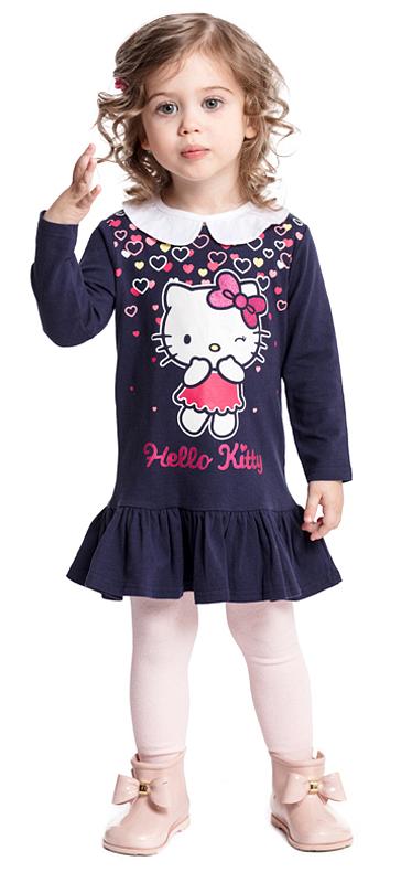 Платье для девочки PlayToday, цвет: темно-синий. 578003. Размер 92578003Платье PlayToday с длинным рукавом дополнит повседневный гардероб ребенка. Модель с белоснежным воротником на пуговицах, при необходимости его можно отстегнуть. На спинке расположены удобные застежки-кнопки. Платье декорировано ярким лицензированным принтом и широкой оборкой по низу.