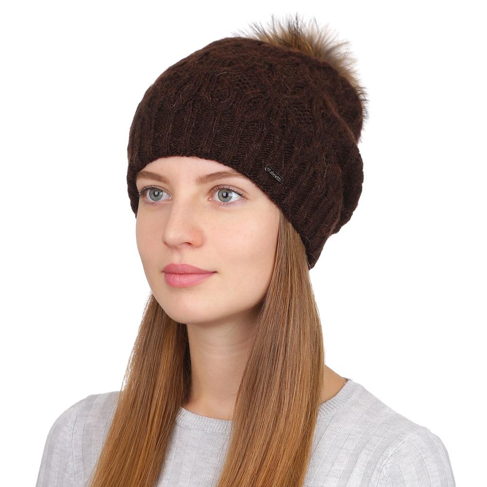 Шапка женская Fabretti, цвет: коричневый. F2017-32-85. Размер универсальныйF2017-32-85Стильная женская шапка Fabretti отлично дополнит ваш образ и защитит от холода. Смесовая пряжа с шерстью в составе максимально сохраняет тепло и обеспечивает удобную посадку. Классическая вязаная шапка оформлена меховым помпоном. Такая шапка станет отличным дополнением к вашему осеннему или зимнему гардеробу, в ней вам будет уютно и тепло!
