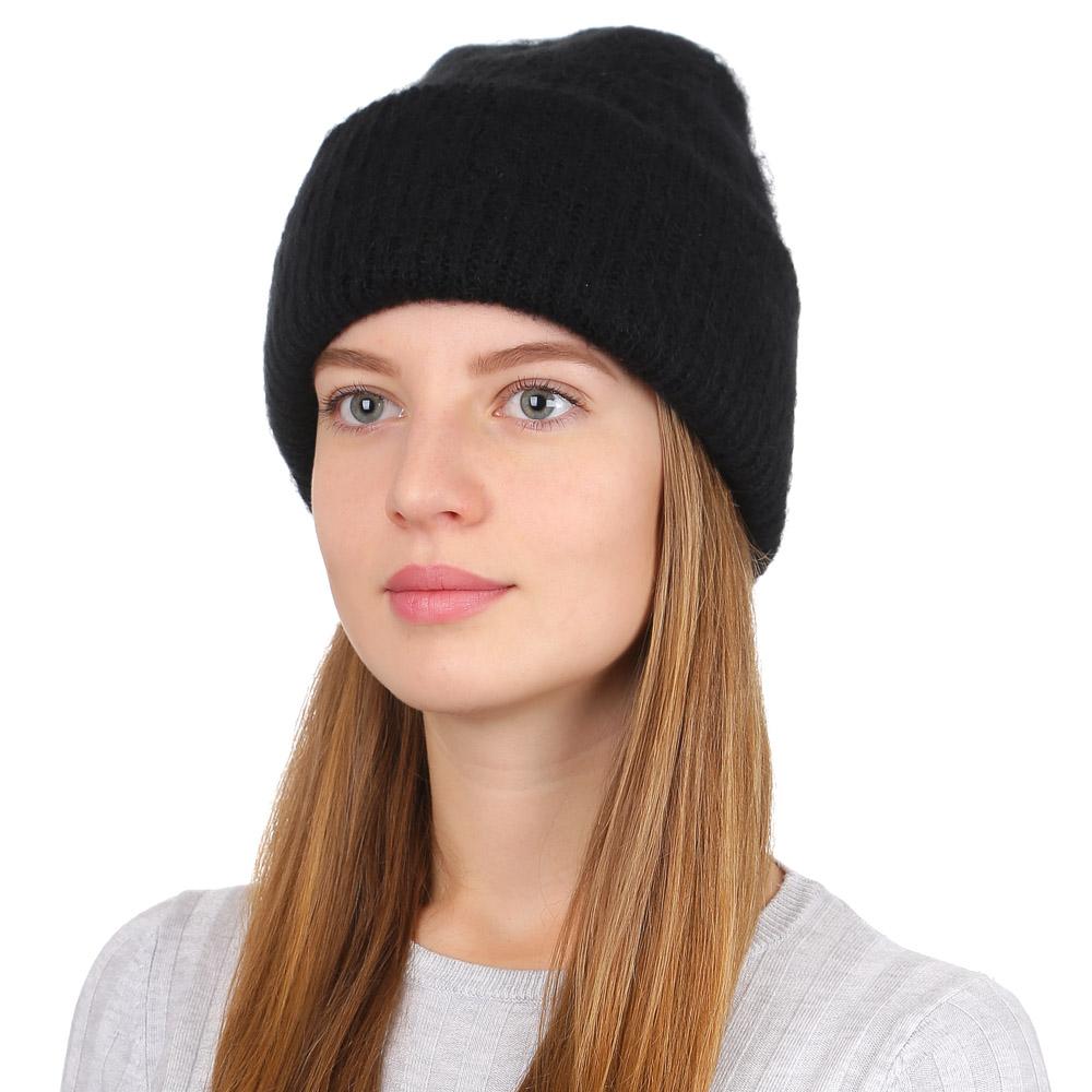 Шапка женская Fabretti, цвет: черный. F2017-34-18. Размер универсальныйF2017-34-18Стильная женская шапка Fabretti отлично дополнит ваш образ и защитит от холода. Модель из мохера с акрилом максимально сохраняет тепло и обеспечивает удобную посадку. Классическая вязаная шапка оформлена широким отворотом. Такая шапка станет отличным дополнением к вашему осеннему или зимнему гардеробу, в ней вам будет уютно и тепло!