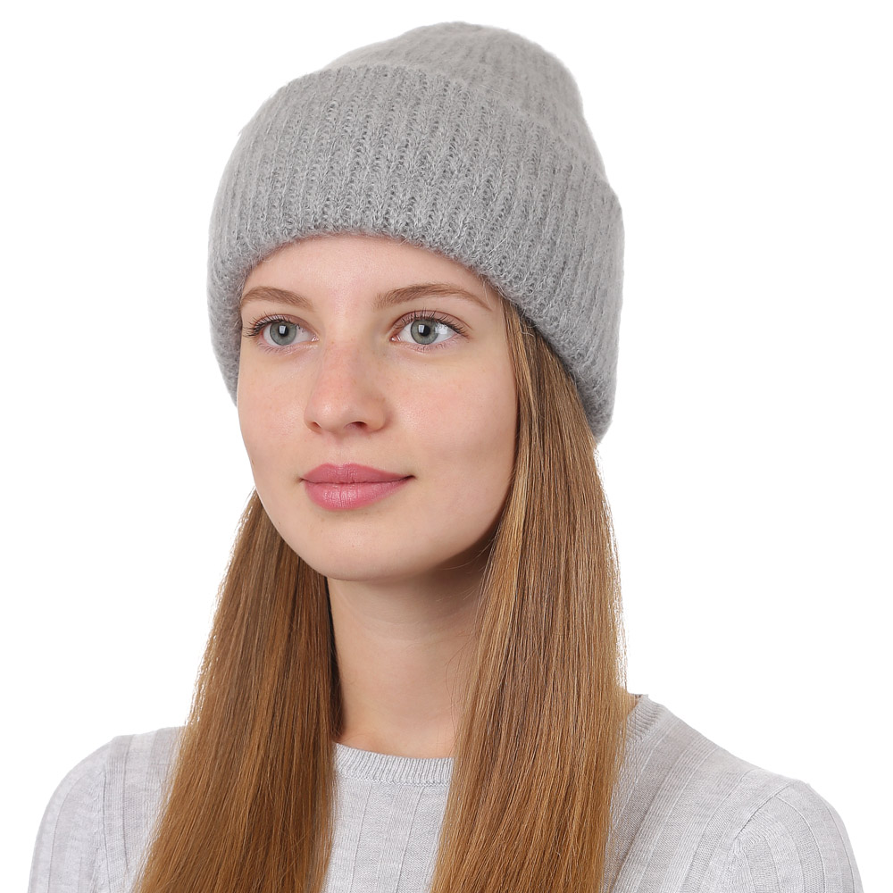 Шапка женская Fabretti, цвет: светло-серый. F2017-34-22. Размер универсальныйF2017-34-22Стильная женская шапка Fabretti отлично дополнит ваш образ и защитит от холода. Модель из мохера с акрилом максимально сохраняет тепло и обеспечивает удобную посадку. Классическая вязаная шапка оформлена широким отворотом. Такая шапка станет отличным дополнением к вашему осеннему или зимнему гардеробу, в ней вам будет уютно и тепло!