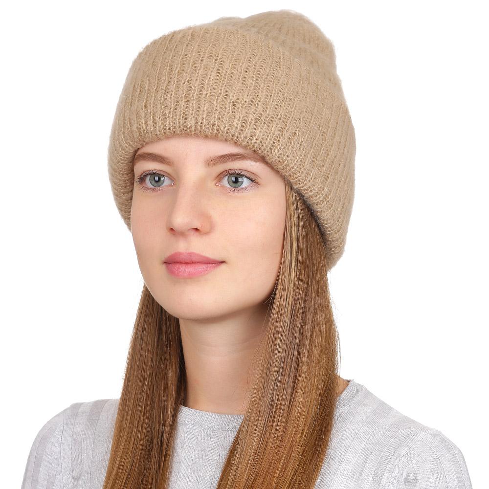 Шапка женская Fabretti, цвет: темно-бежевый. F2017-34-35. Размер универсальныйF2017-34-35Стильная женская шапка Fabretti отлично дополнит ваш образ и защитит от холода. Модель из мохера и акрила максимально сохраняет тепло и обеспечивает удобную посадку. Классическая вязаная шапка оформлена широким отворотом. Такая шапка станет отличным дополнением к вашему осеннему или зимнему гардеробу, в ней вам будет уютно и тепло!