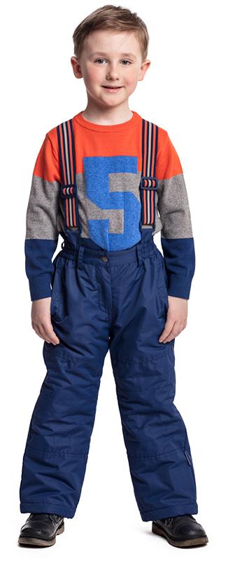 Брюки утепленные для мальчика PlayToday, цвет: синий. 371056. Размер 116371056Утепленные брюки PlayToday выполнен из водонепроницаемого материала. Пояс - на плотной резинке со шлевками. Вшивные карманы - на липучках. Модель снабжена широкими регулируемыми лямками. Брюки застегиваются на молнию и пуговицу-болт. Низ штанин можно утягивать за счет шнуров-кулисок со стопперами. Светоотражатель на модели обеспечит видимость ребенка в темное время суток.