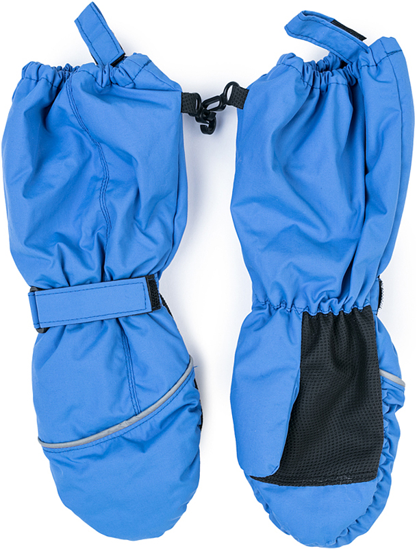 Варежки для девочки PlayToday, цвет: ярко-голубой. 372176. Размер 13372176Теплые PlayToday варежки из непромокаемого материала защитят руки ребенка при холодной погоде. Модель на подкладке из теплого флиса. Удлиненные запястья дополнены резинками для дополнительного сохранения тепла.