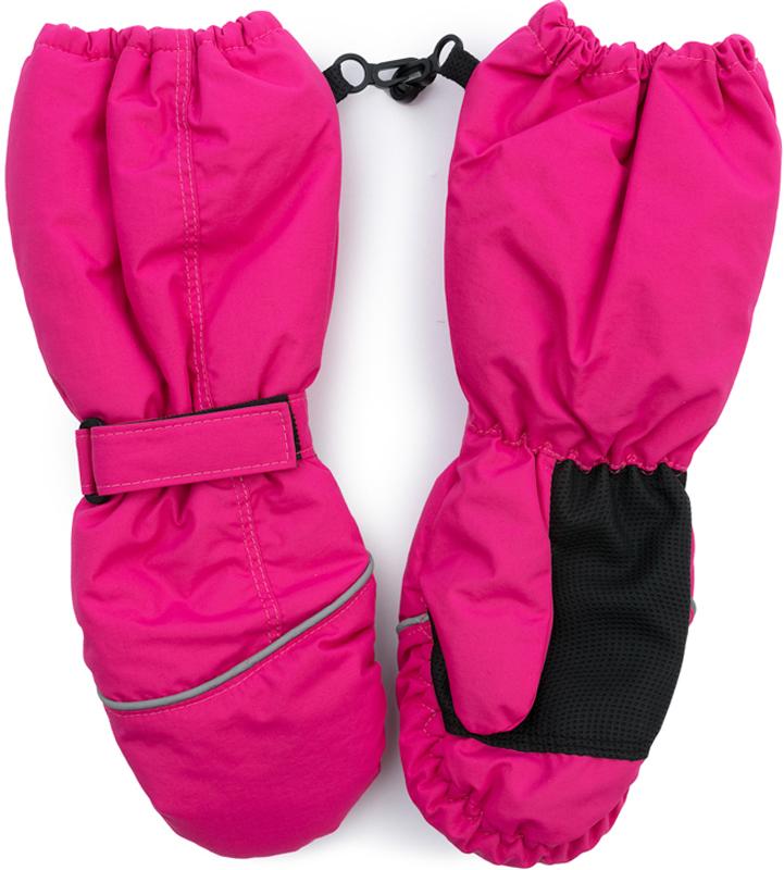 Варежки для девочки PlayToday, цвет: малиновый. 379020. Размер 13379020Теплые PlayToday варежки из непромокаемого материала защитят руки ребенка при холодной погоде. Модель на подкладке из теплого флиса. Удлиненные запястья дополнены резинками для дополнительного сохранения тепла.