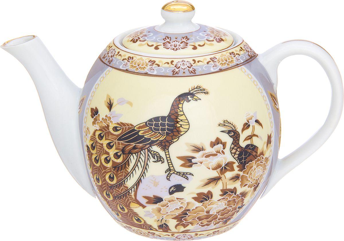 Чайник заварочный Elan Gallery Павлин на бежевом, 500 мл. 730682730682Изящный чайник с удобной ручкой и широким носиком. В основании носика сделаны фильтрующие отверстия от попадания чаинок в чашку.Изделие имеет подарочную упаковку.