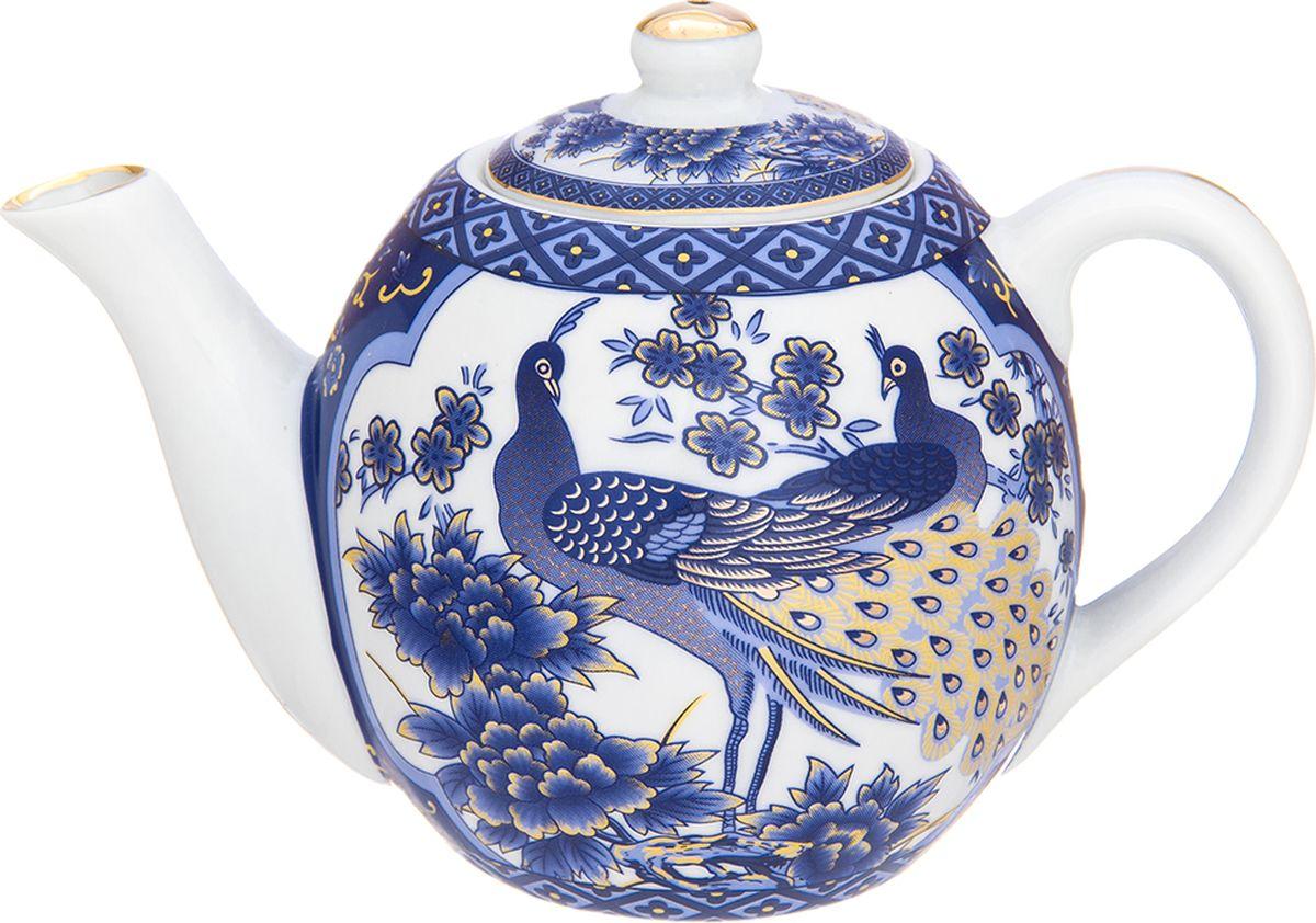 Чайник заварочный Elan Gallery Павлин синий, 500 мл. 730683730683Изящный чайник объемом 500 мл с удобной ручкой и широким носиком. В основании носика сделаны фильтрующие отверстия от попадания чаинок в чашку. Изделие имеет подарочную упаковку.