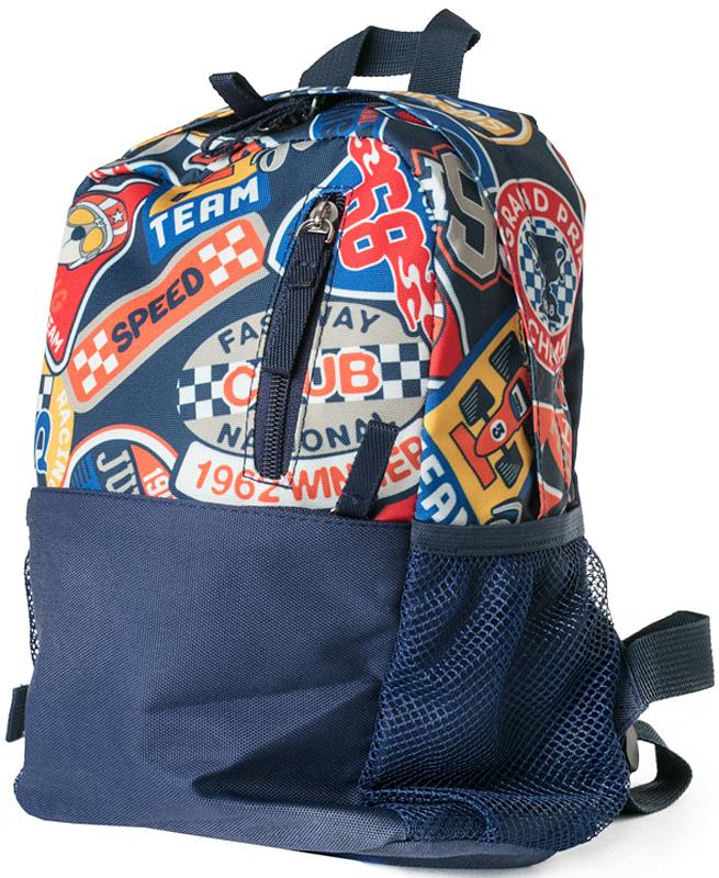 Рюкзак для мальчика PlayToday, цвет: синий, красный, желтый, белый, 30 х 20 х 10 см. 371712371712