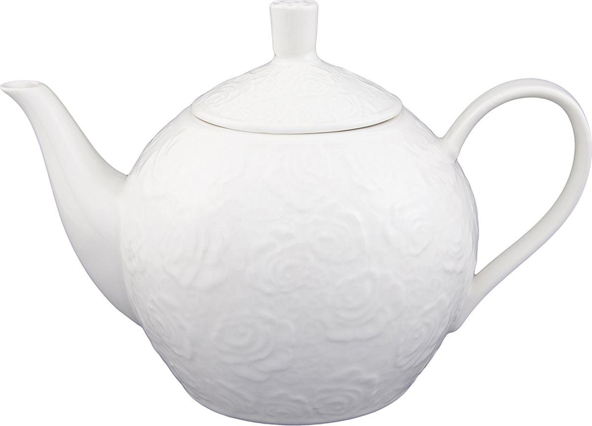 Чайник заварочный Elan Gallery Белые розы, 1,3 л860020Изысканный заварочный чайник украсит сервировку стола к чаепитию. Благодаря красивому утонченному дизайну и качеству исполнения он станет хорошим подарком друзьям и близким.