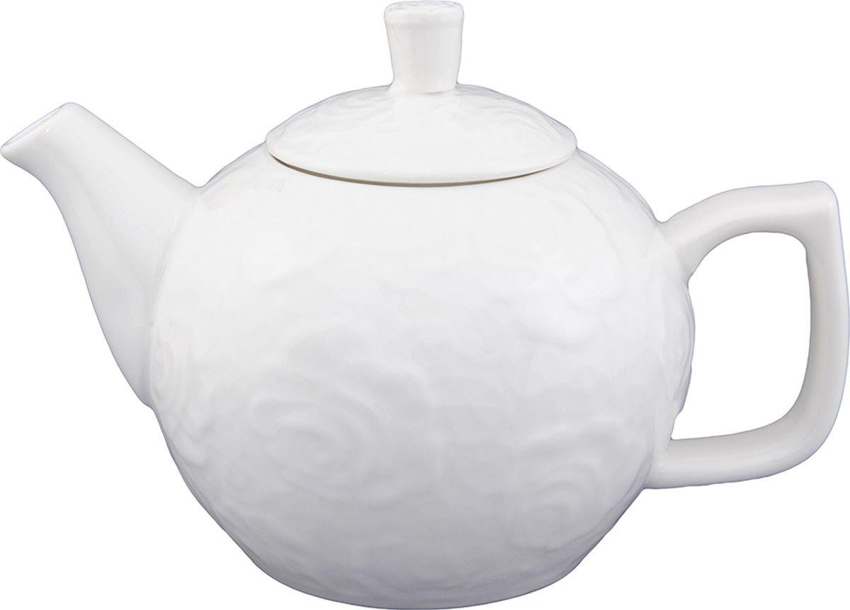 Чайник заварочный Elan Gallery Белые розы, 575 мл. 860021860021Изысканный заварочный чайник украсит сервировку стола к чаепитию. Благодаря красивому утонченному дизайну и качеству исполнения он станет хорошим подарком друзьям и близким.