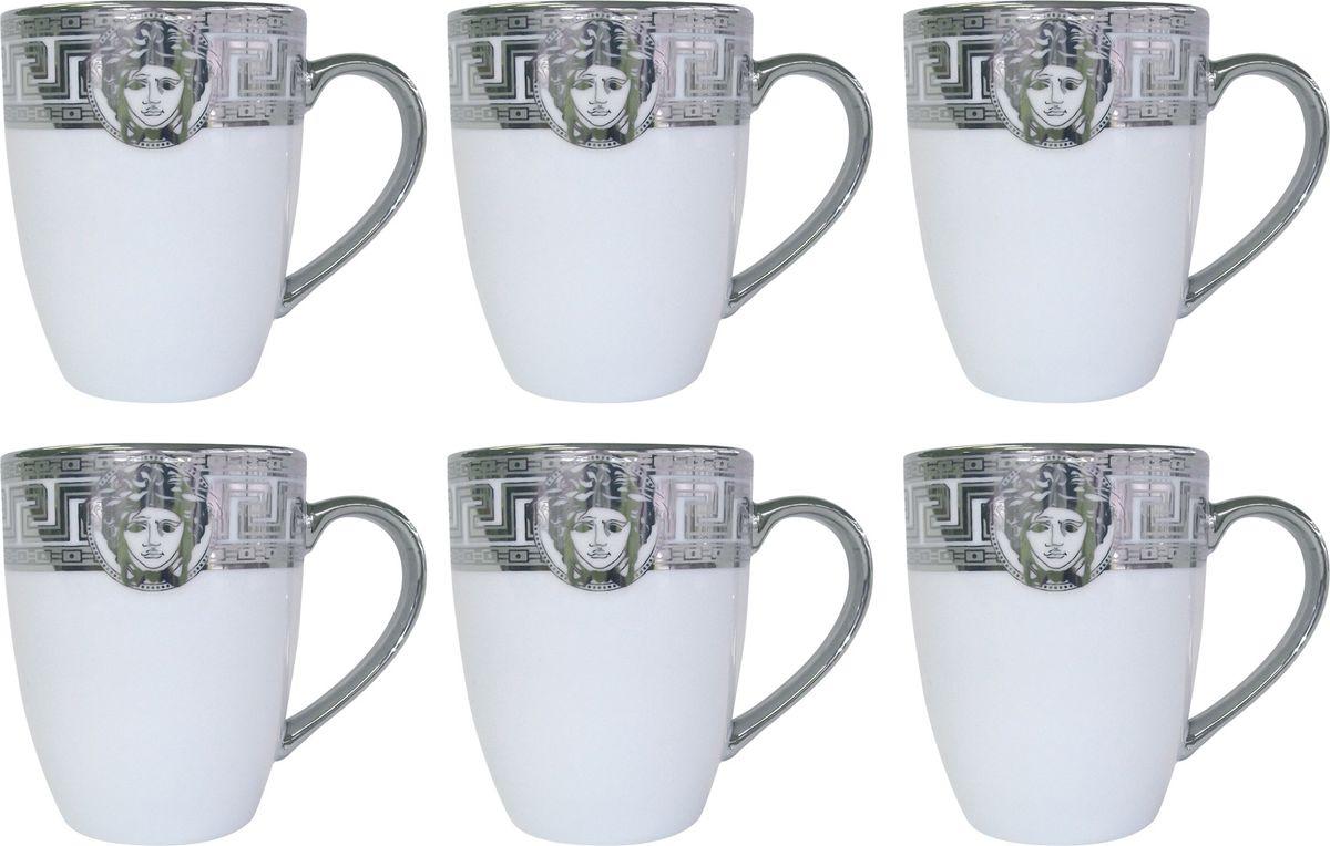 Набор кружек Bohmann, 330 мл, 6 шт. 1860ВНР/S1860ВНР/SНабор Bohmann, изготовленный из высококачественного фарфора белого цвета, состоит из шести кружек. Изделия имеют элегантный дизайн и декорированы ярким рисунком.Набор кружек Bohmann великолепно украсит ваш стол и послужит отличным подарком к любому празднику.