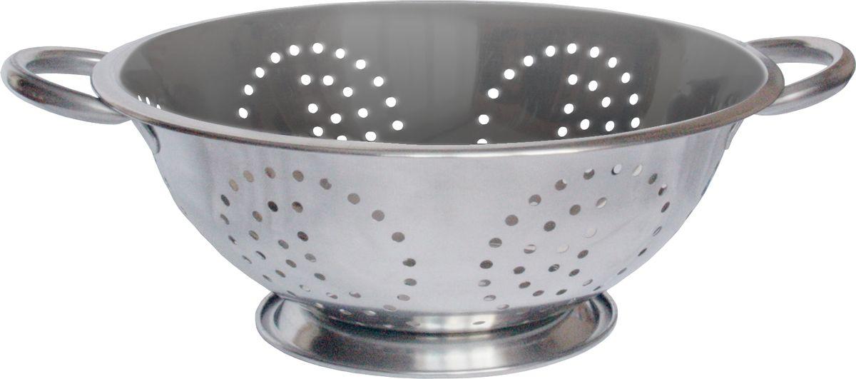 Дуршлаг Rainstahl, диаметр 26 см. 4000-26RS/CO4000-26RS/COДуршлаг Rainstahl изготовлен из высококачественной нержавеющей стали и снабжен двумя ручками, а также круглой подставкой, что делает удобным его использование. Такой дуршлаг идеален для процеживания ягод, спагетти, салата, овощей и других продуктов. Дуршлаг Rainstahl станет незаменимым аксессуаром на вашей кухне и придется по душе любой хозяйке.