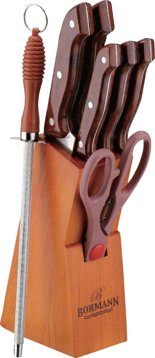 Набор ножей Bohmann, на подставке, 8 предметов. 5103BHMAR/308MAR набор кухонных ножей bohmann на подставке 7 предметов