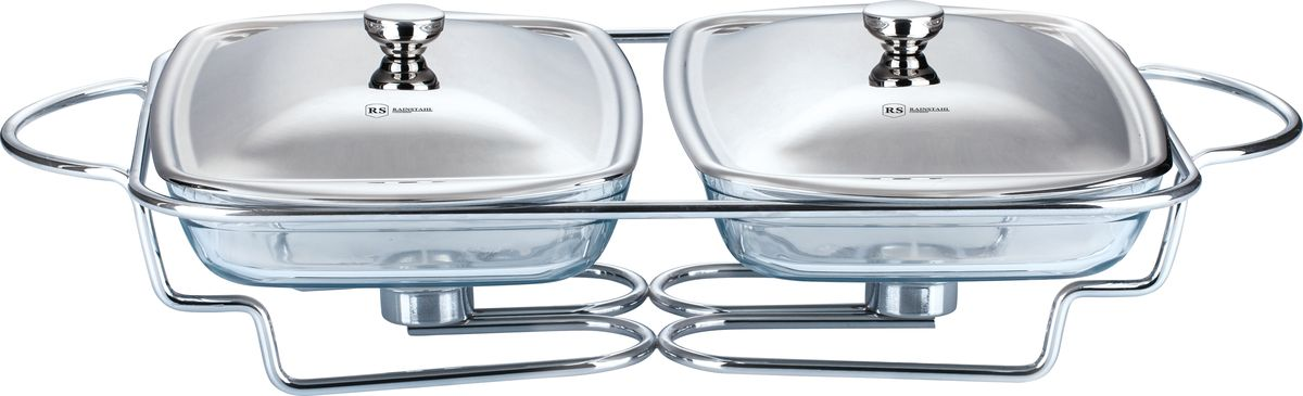 Мармит Rainstahl двойной, с крышкой, по 1,6 л. 6012RS/FM6012RS/FMМармит предназначен для приготовления или сохранения пищи в подогретом виде.Представляет собой две прямоугольные стеклянные емкости каждая объемом 1,6 л, с крышками из нержавеющей стали. Подставка выполнена из нержавеющей стали.Объем одной емкости: 1,6 л