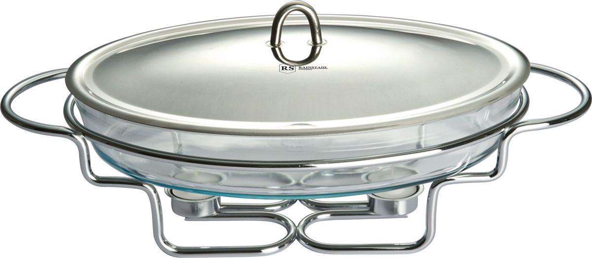 Мармит Rainstahl, с крышкой, 3,2 л. 6015RS/FM6015RS/FMСтеклянный мармит для подогрева супов с половником. Объем 3,2л. Овальная емкость с крышкой из нержавеющей стали и металлической подставкой.