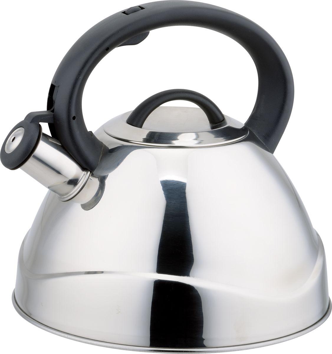 Чайник Rainstahl, 3,5л. 7617-35RS\WK7617-35RS\WKЧайник со свистком. Корпус из высококачественной нержавеющей стали. Наличие куркового механизма. Термоаккумулирующее дно. Подходит для всех видов плит, включая индукционную. Объем 3,5 литра
