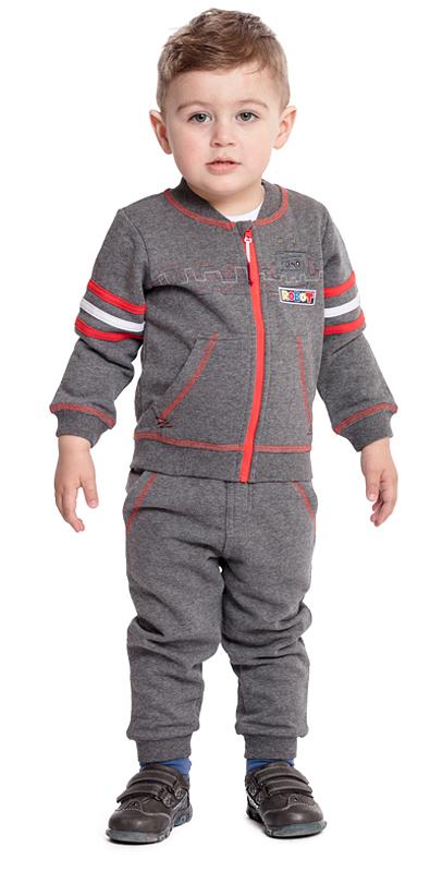 Толстовка для мальчика PlayToday, цвет: серый. 377017. Размер 92