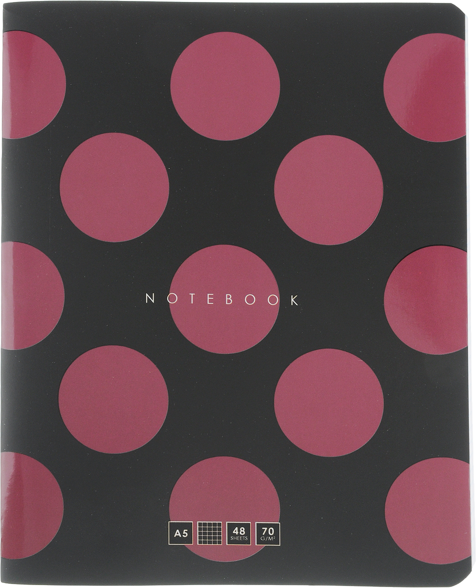 Greenwich Line Тетрадь In Black 48 листов в клетку цвет черный бордовый внутренний блок ballu bsei in 10hn1 black