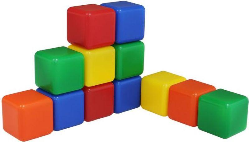 Крошка Я Кубики цветные 12 шт 1200601