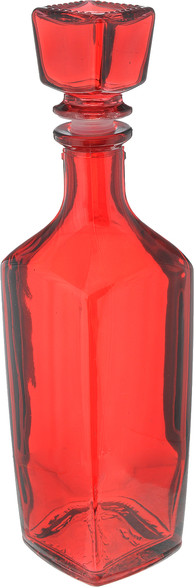 Штоф Хрустальный звон Элегант. Радуга, цвет: красный, 500 мл1556842_красныйШтоф Хрустальный звон выполнен из высококачественного цветного стекла. Пробка с пластиковой насадкой плотно закрывается, что позволяет сохранить аромат напитков. Изделие предназначено для хранения крепких алкогольных напитков. Благодаря оригинальному дизайну такой штоф станет изысканным дополнением сервировки праздничного стола.