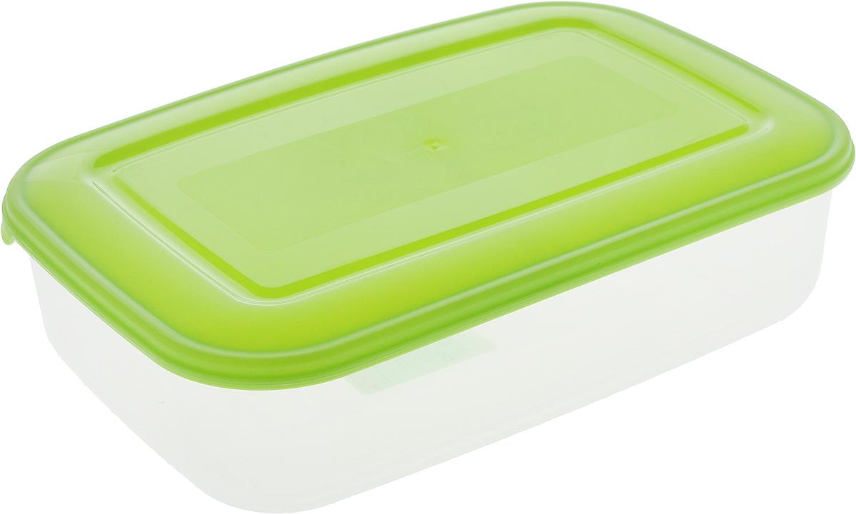 Контейнер пищевой Бытпласт Прима, цвет: прозрачный, салатовый, 1,3 лС11007_прозрачный, салатовыйКонтейнер Бытпласт Прима изготовлен из высококачественного полипропилена и не содержит Бисфенол А. Крышка легко и плотно закрывается. Контейнер устойчив к воздействию масел и жиров, легко моется.Подходит для использования в микроволновых печах, его можно мыть в посудомоечной машине.Объем контейнера: 1,3 л.
