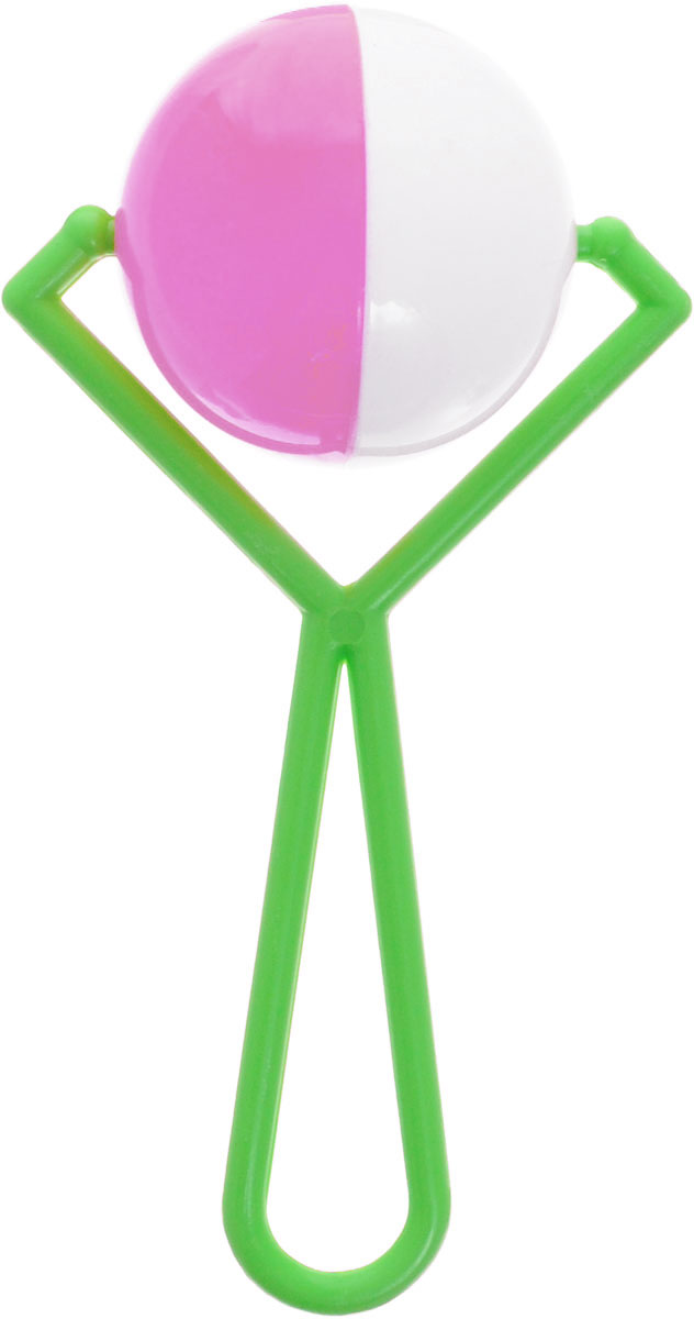 Аэлита Погремушка Вертушка цвет зеленый розовый белый