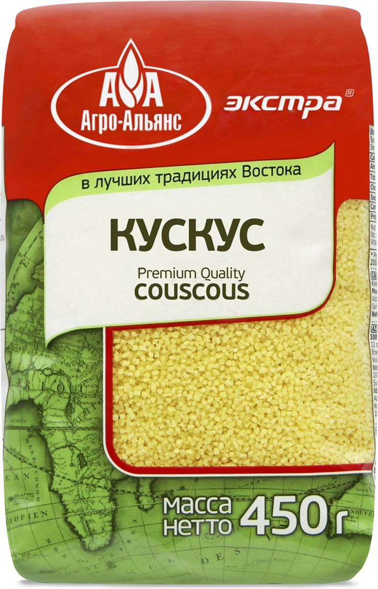 Агро-Альянс Экстра крупа пшеничная кускус, 450 г4607072711993