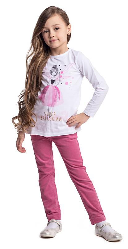 Футболка с длинным рукавом для девочки PlayToday, цвет: белый. 372029. Размер 110372029Футболка PlayToday выполнена из эластичного хлопка. Модель с длинными рукавами и круглым вырезом горловины оформлена принтом.